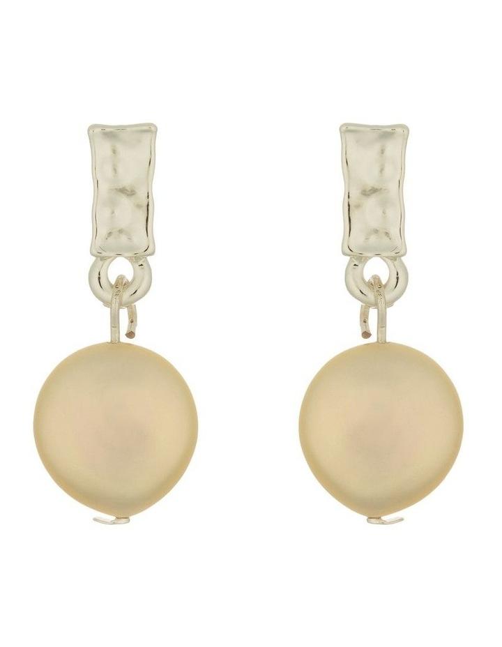 Pearl Drop Earrings - Silver image 1