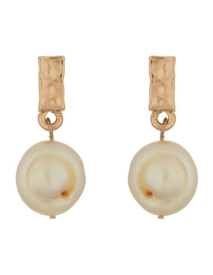 Pearl Drop Earrings - Rose Gold image 1