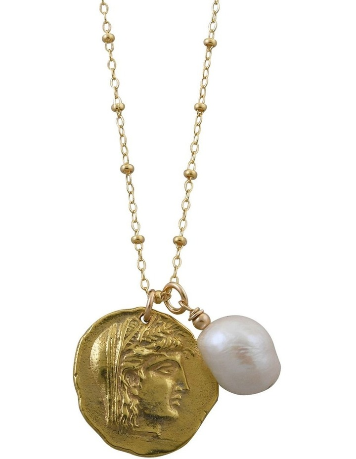 Rosario Necklace w/ Alexander The Great & Baroque Pearl - Gold image 1