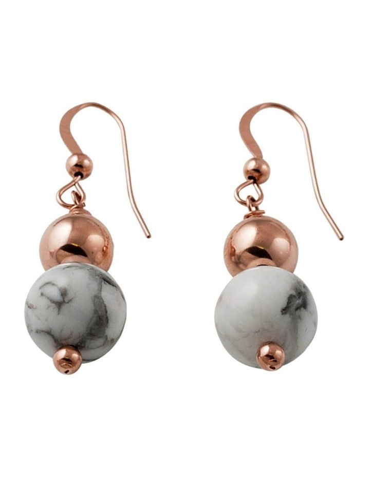 14K Rose Gold Filled Double Ball Hook Earrings (10MM X 8MM) image 1