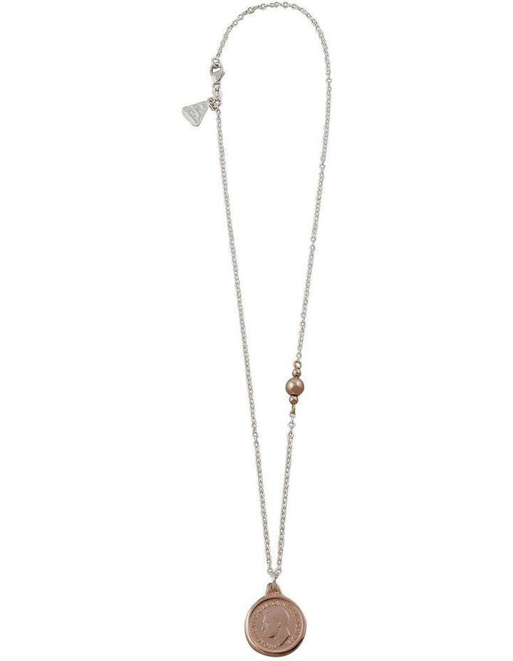 Fine 2-Tone Necklace w/ Rose Gold Threepence image 2