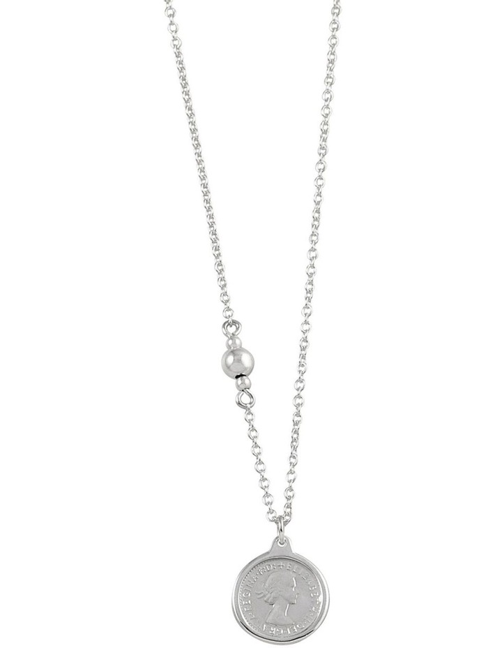 Fine Necklace w/ Threepence - Silver image 1