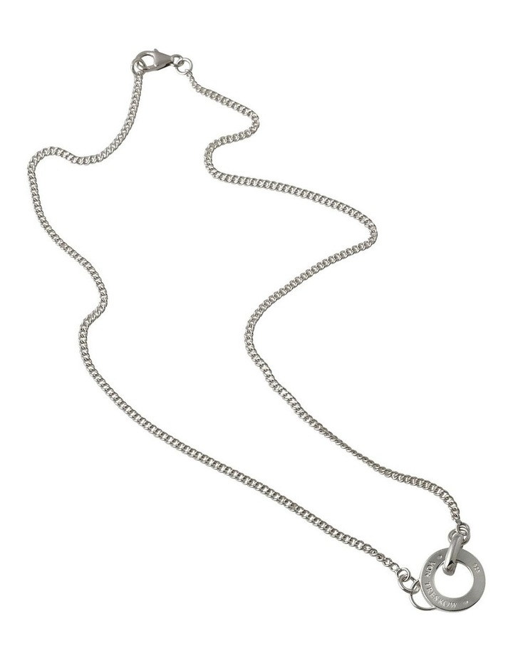Curb Chain Necklace w/ Silver VT Disc image 1
