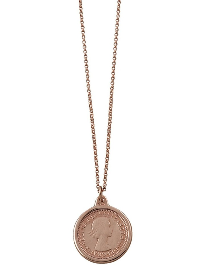 Belcher Chain Necklace w/ 14K Rose Gold Vermeil Sixpence image 1