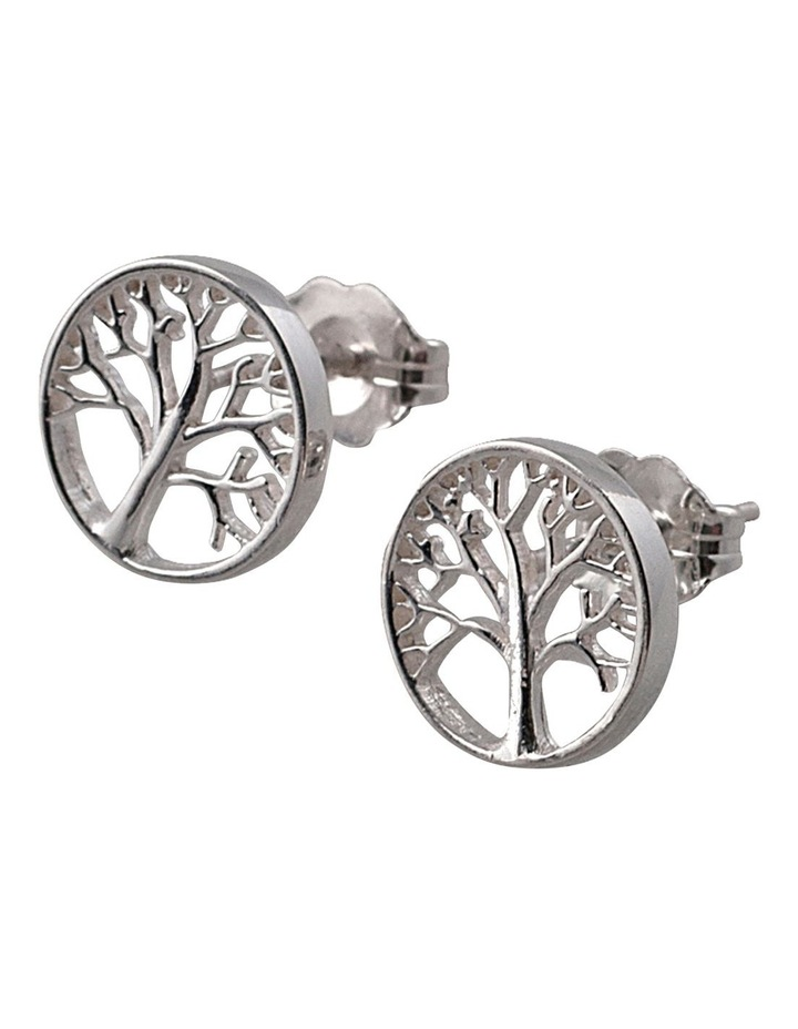 Tree Of Life Studs Earrings - Silver image 1