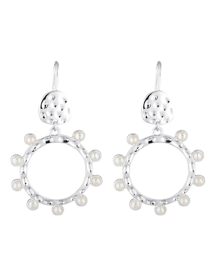 Cleo Opal Drop Earrings - Silver image 1