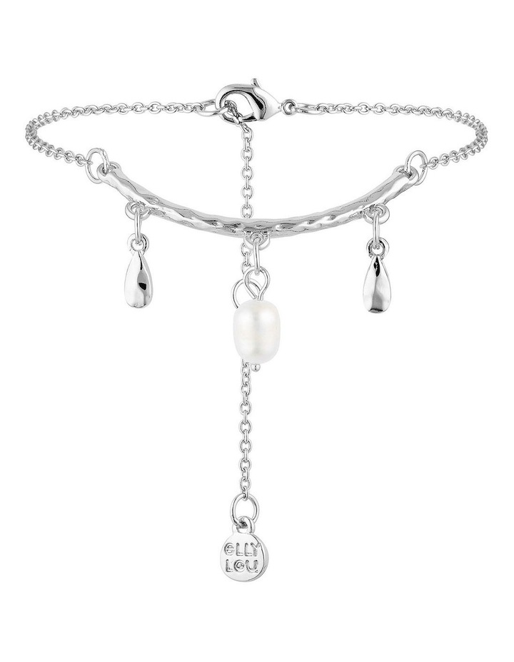 Palm Spring Drop Bracelet - Silver/Pearl image 1