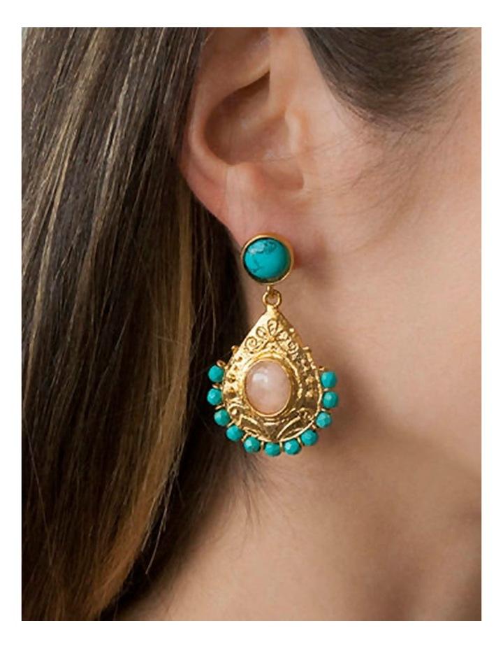 Georgia Earrings w/ Howlite image 2