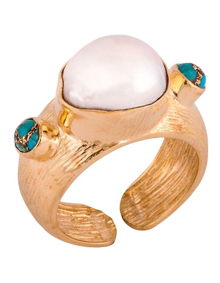 Boheme Lily Ring w/ Freshwater Pearl image 1