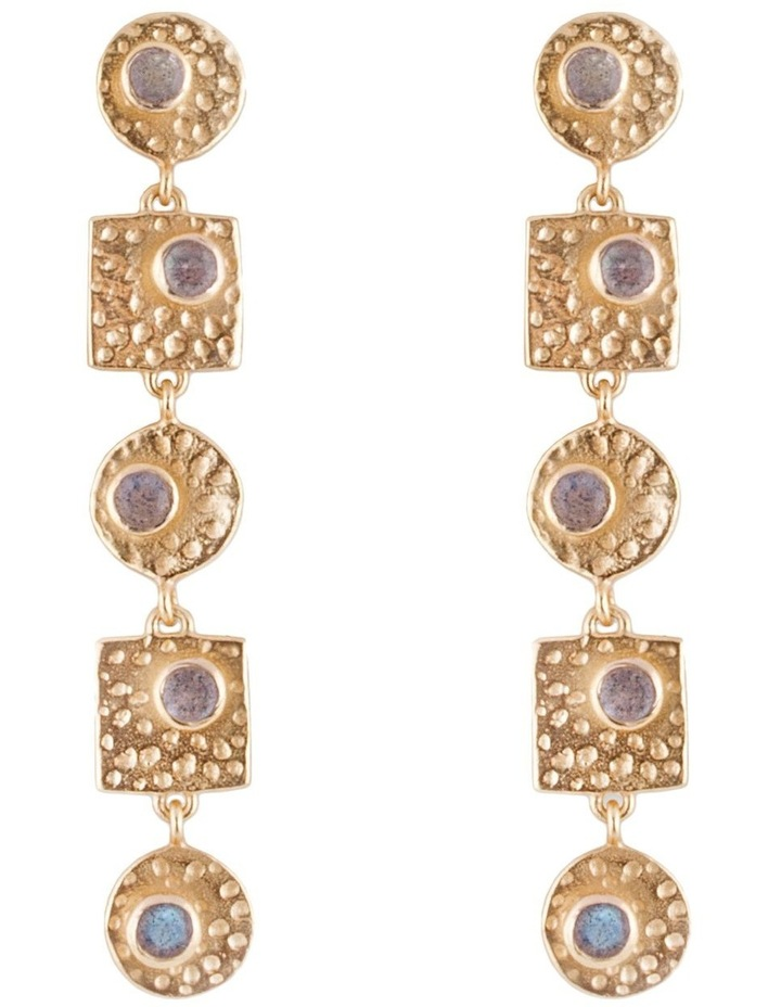 Circle & Square Earrings - Gold image 1