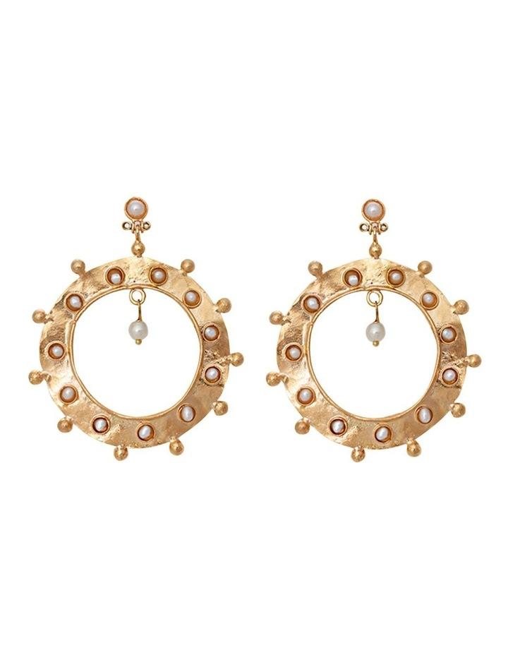 Taylor Earrings w/ Freshwater Pearl image 1