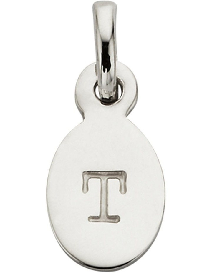 Initial Charm w/ Sterling Silver - T image 1