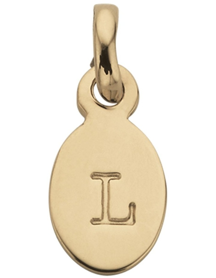 Initial Charm w/ 18K Gold Vermeil - L image 1