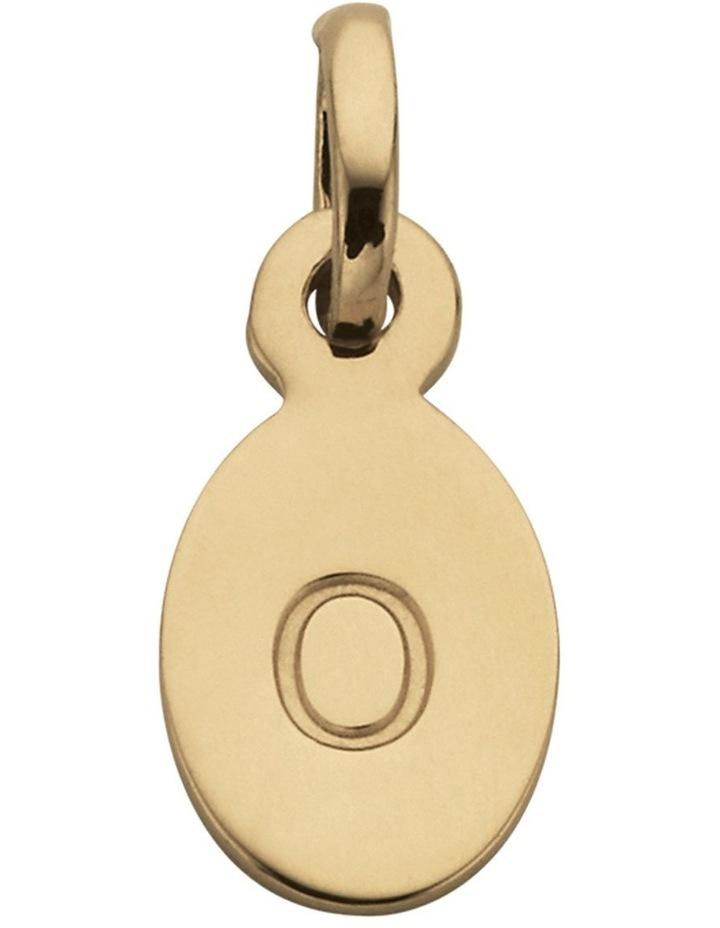 Initial Charm w/ 18K Gold Vermeil - O image 1