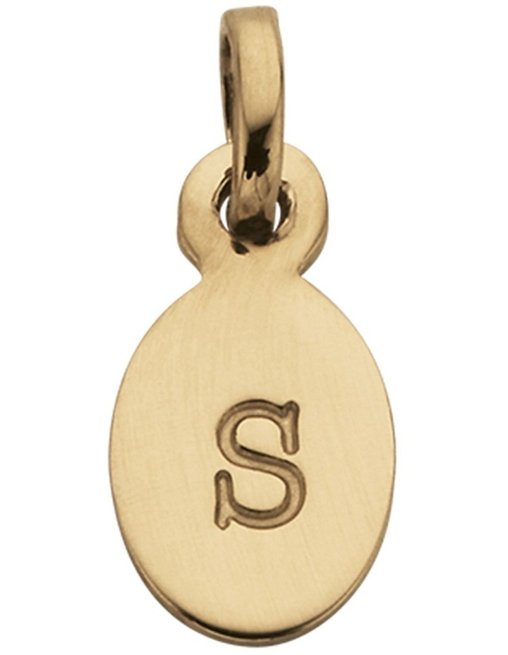 Initial Charm w/ 18K Gold Vermeil - S image 1