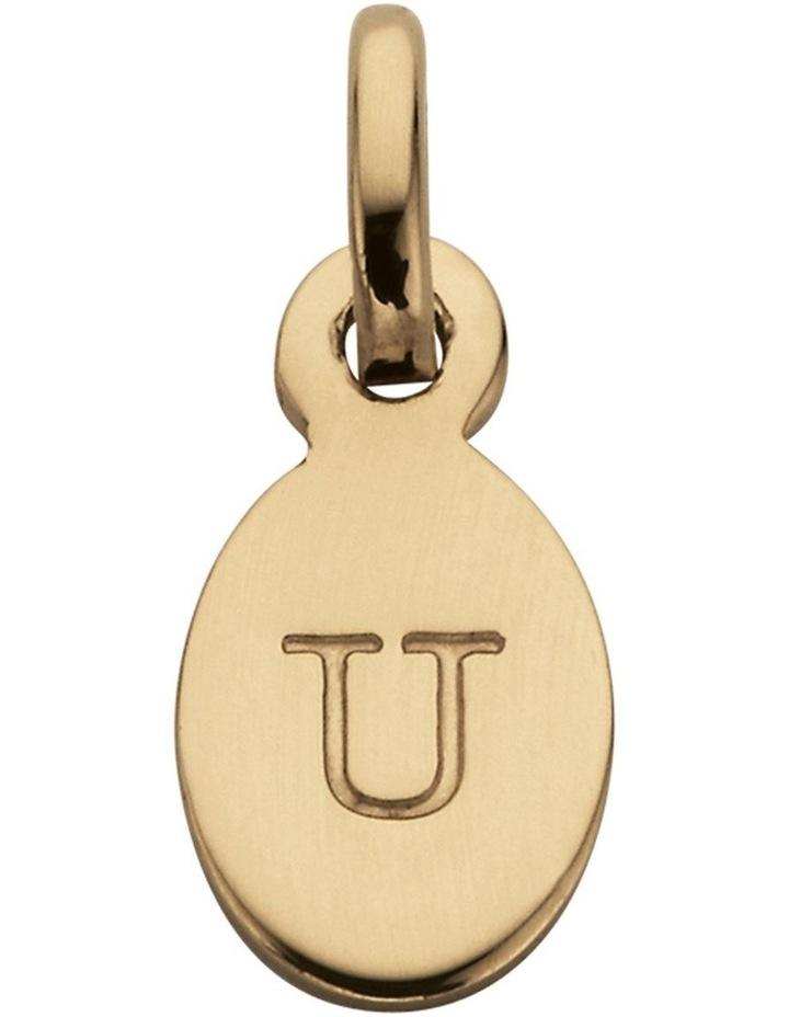 Initial Charm w/ 18K Gold Vermeil - U image 1