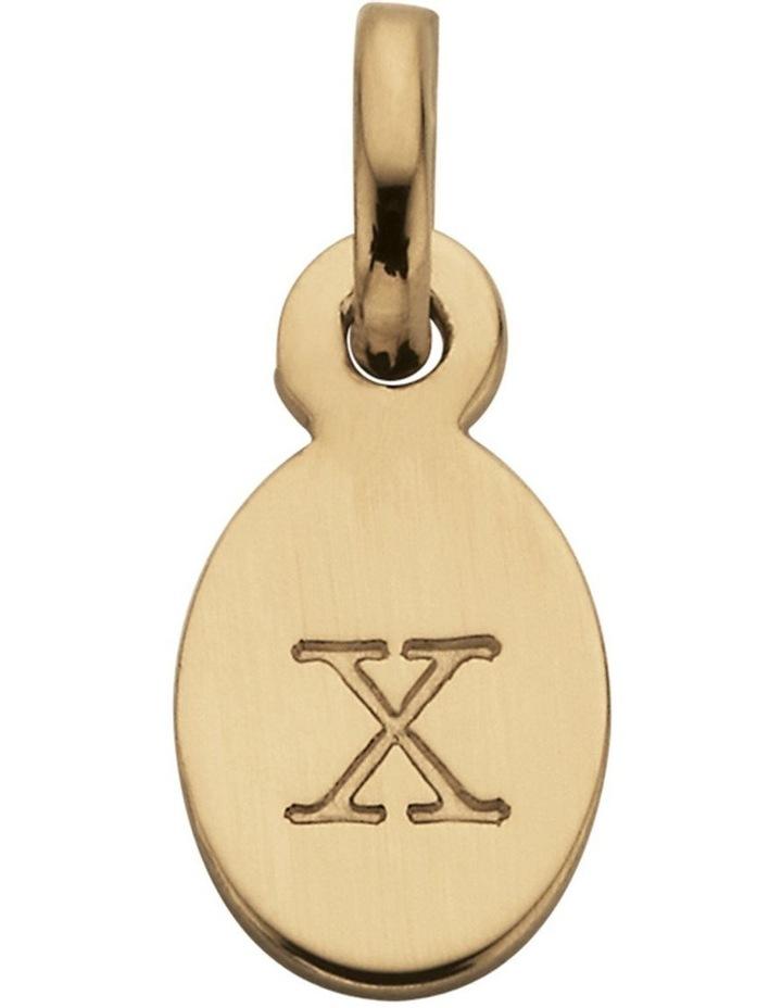 Initial Charm w/ 18K Gold Vermeil - X image 1