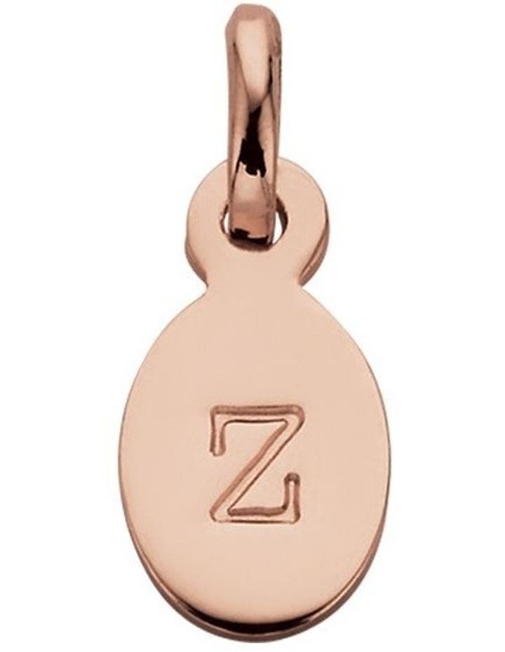 Initial Charm w/ 18K Rose Gold Vermeil - Z image 1