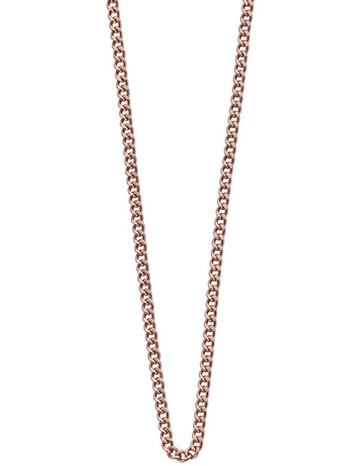 "Bespoke Curb Chain 16"" - 18"" w/ 18K Rose Gold Vermeil image 1"