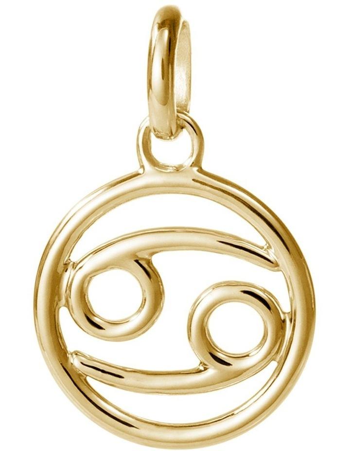 Zodiac Charm w/ 18K Gold Vermeil - Cancer image 1