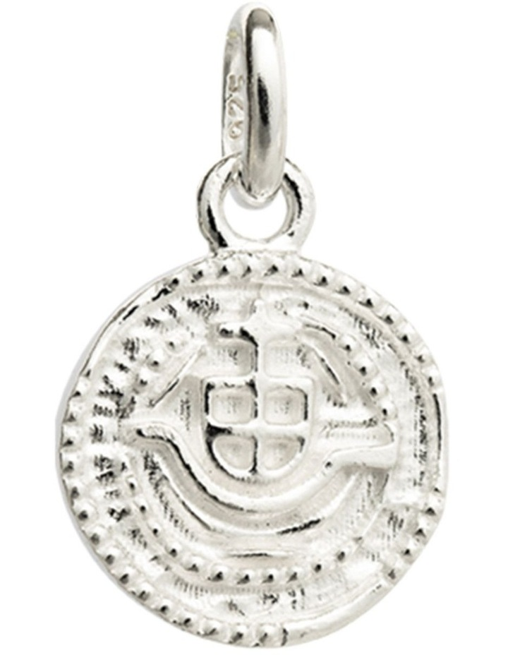 Lost Treasure Coin Charm w/ Sterling Silver image 1