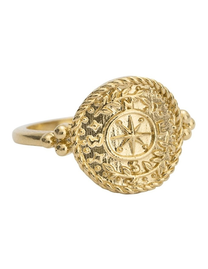 Treasure Coin Ring (18K-Gold-Vermeil) - Size 6 image 2