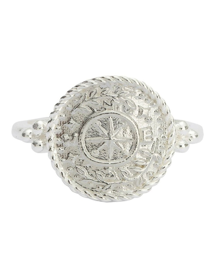 Treasure Coin Ring (Sterling Silver) - Size 8 image 1