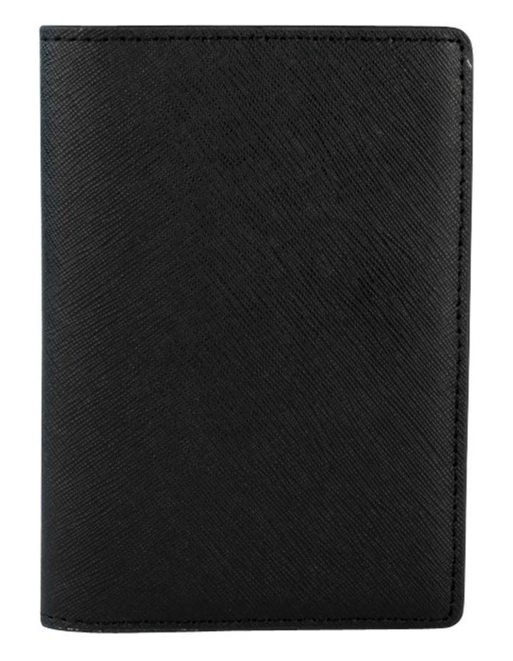 Jane Leather Passport Holder - Black image 1