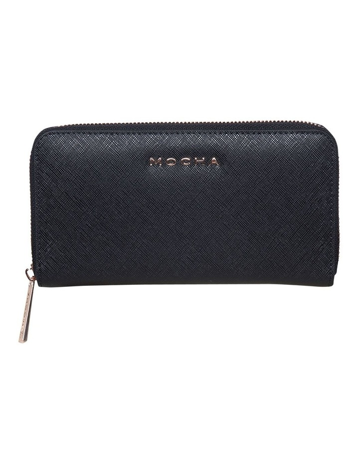 Kristi Leather Wallet - Black / Rose Gold image 1