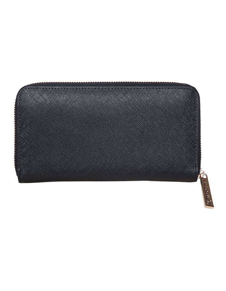 Kristi Leather Wallet - Black / Rose Gold image 2