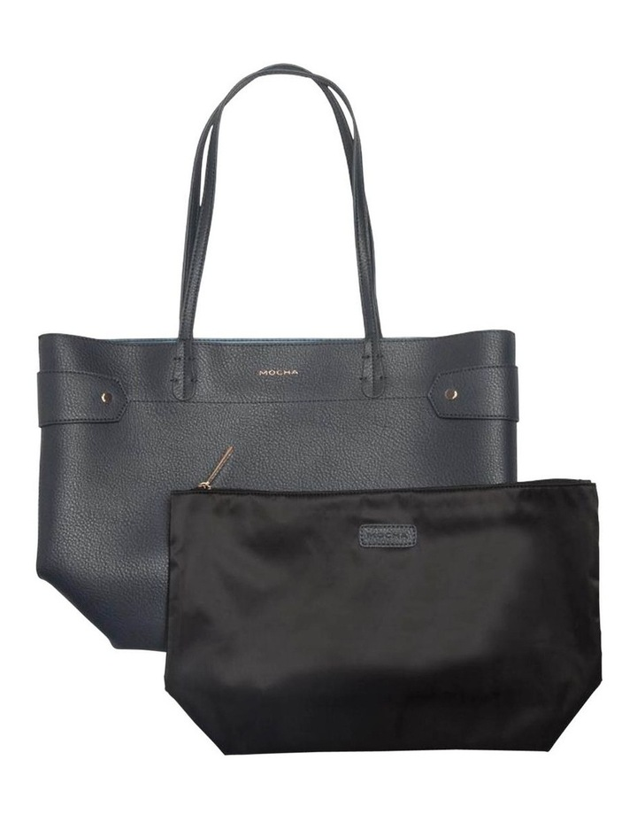 Clip Around Tote Bag-Navy image 2
