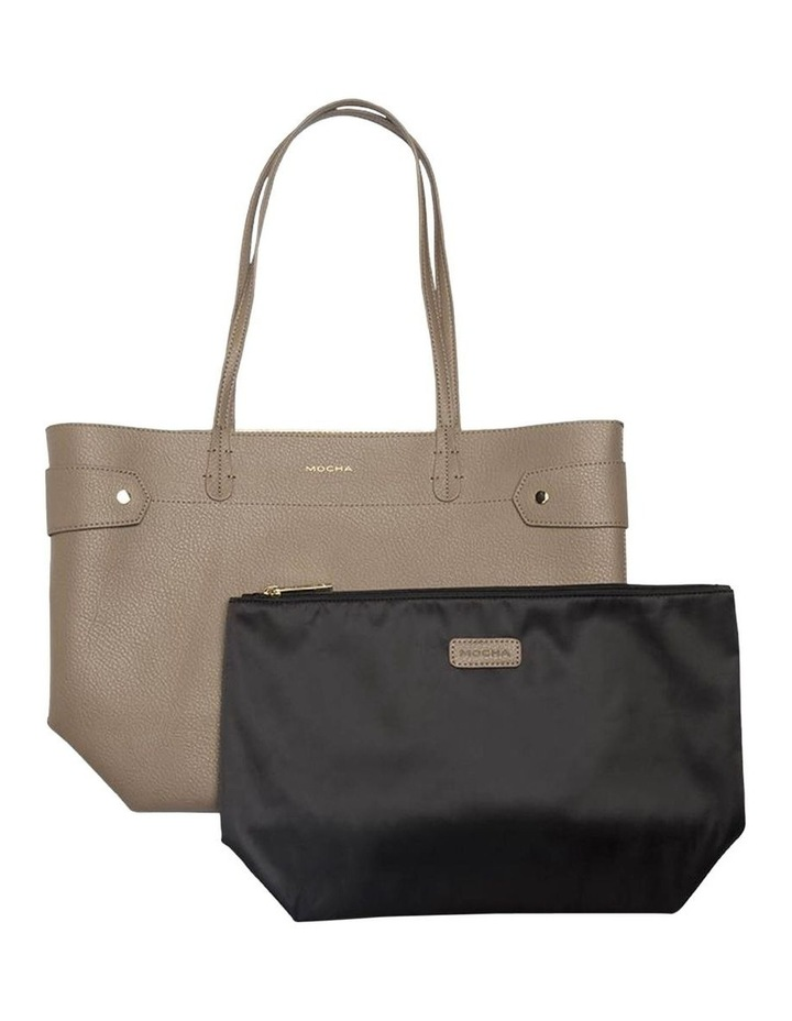 Clip Around Tote Bag-Dark Taupe image 2