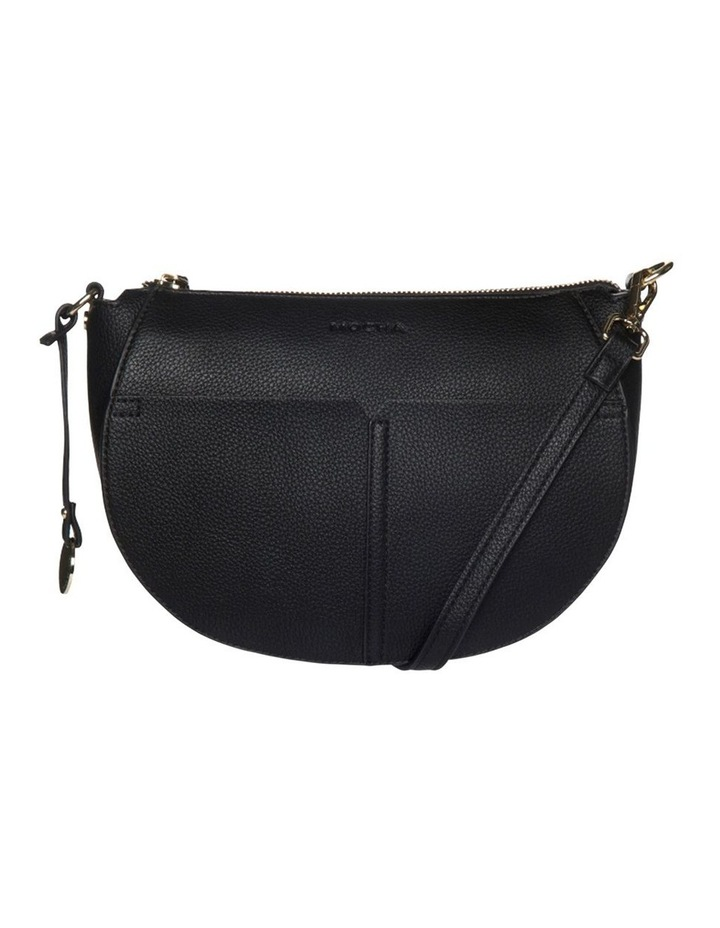 Gabi Half Moon Crossbody Bag-Black image 1
