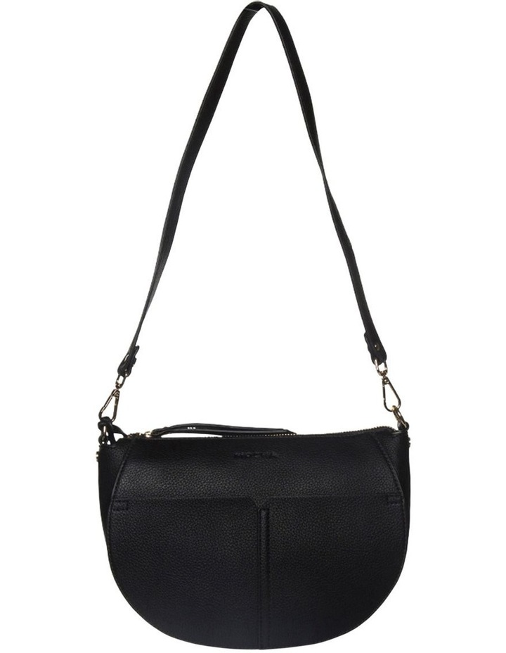 Gabi Half Moon Crossbody Bag-Black image 2
