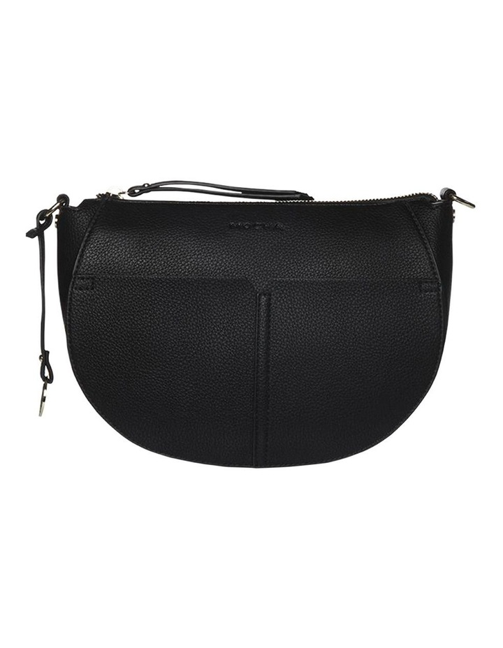 Gabi Half Moon Crossbody Bag-Black image 3