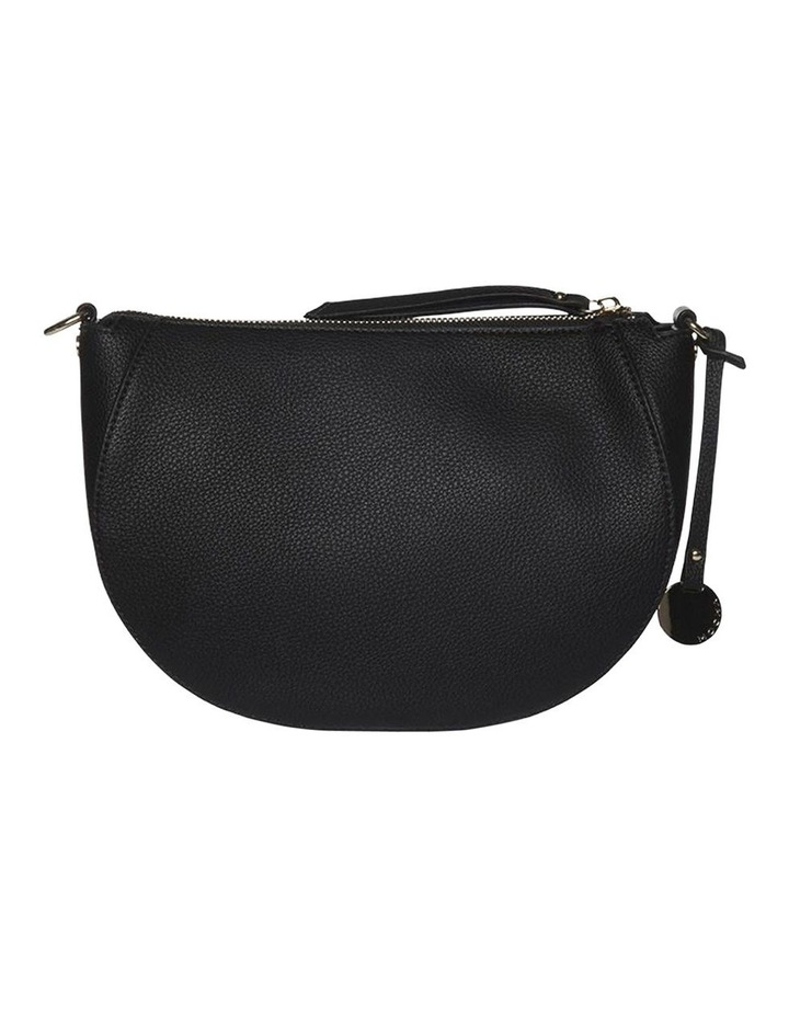 Gabi Half Moon Crossbody Bag-Black image 4