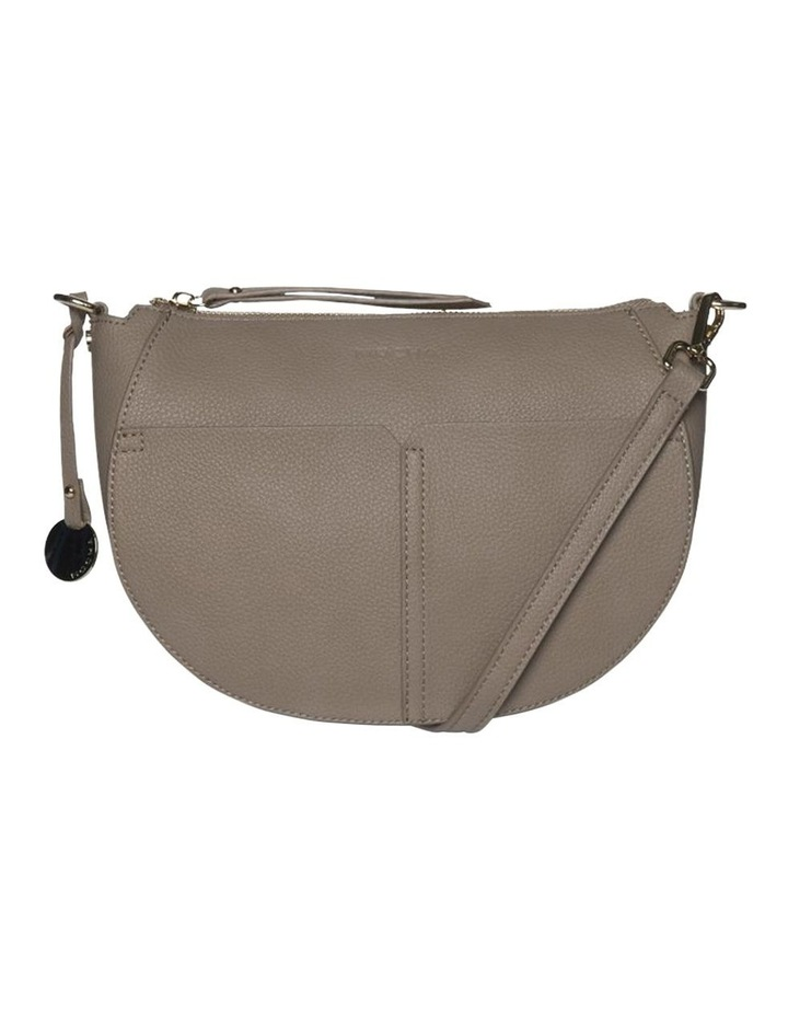 Gabi Half Moon Crossbody Bag-Taupe image 1