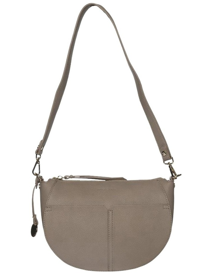 Gabi Half Moon Crossbody Bag-Taupe image 3
