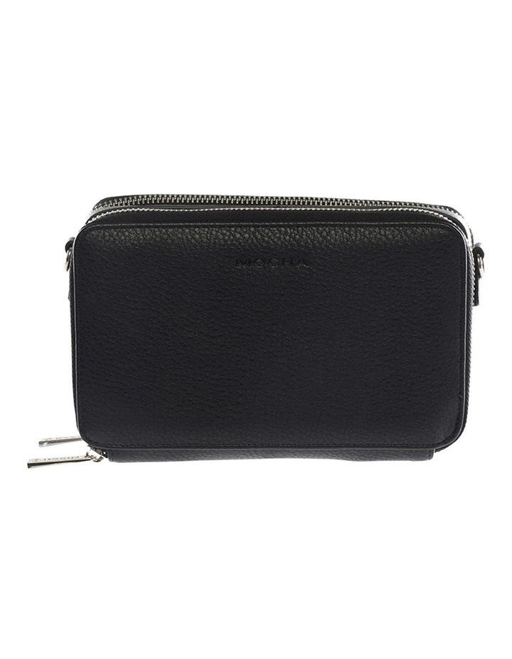 Double Zip Clutch Crossbody Bag - Black image 1