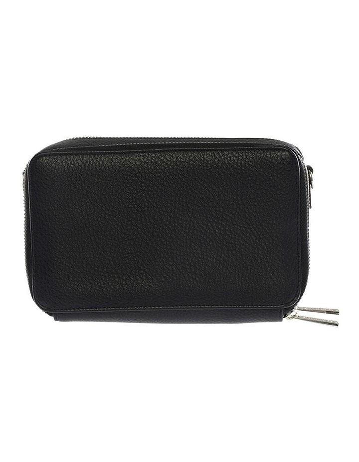 Double Zip Clutch Crossbody Bag - Black image 2
