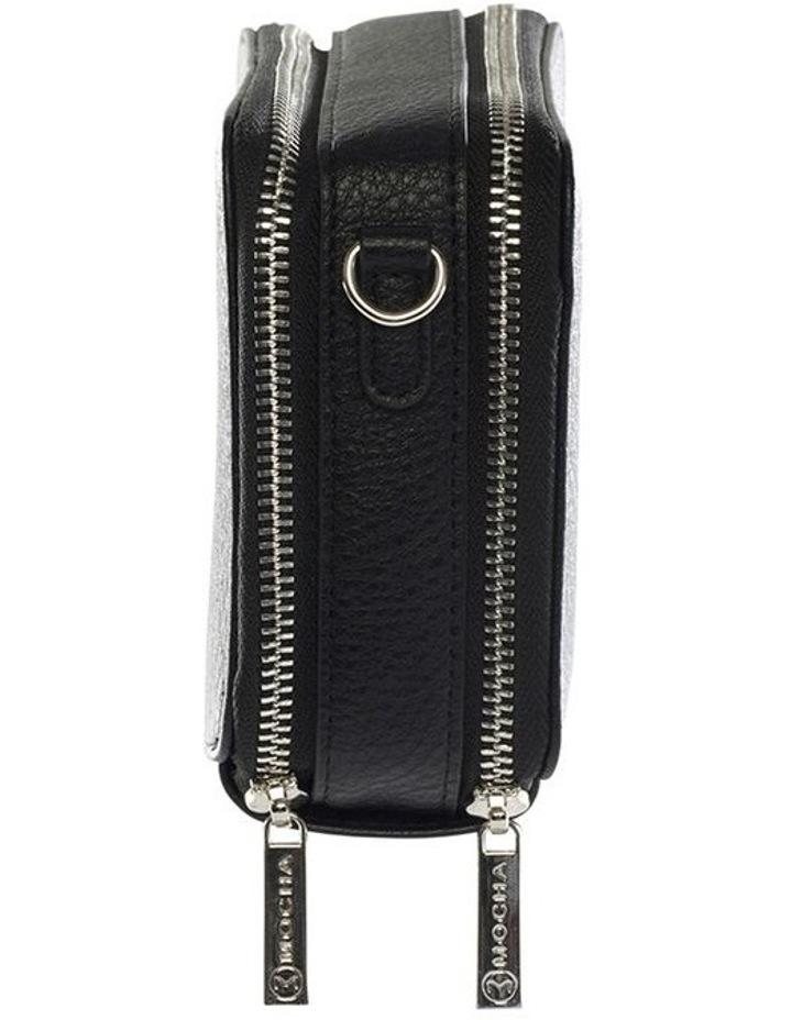 Double Zip Clutch Crossbody Bag - Black image 3
