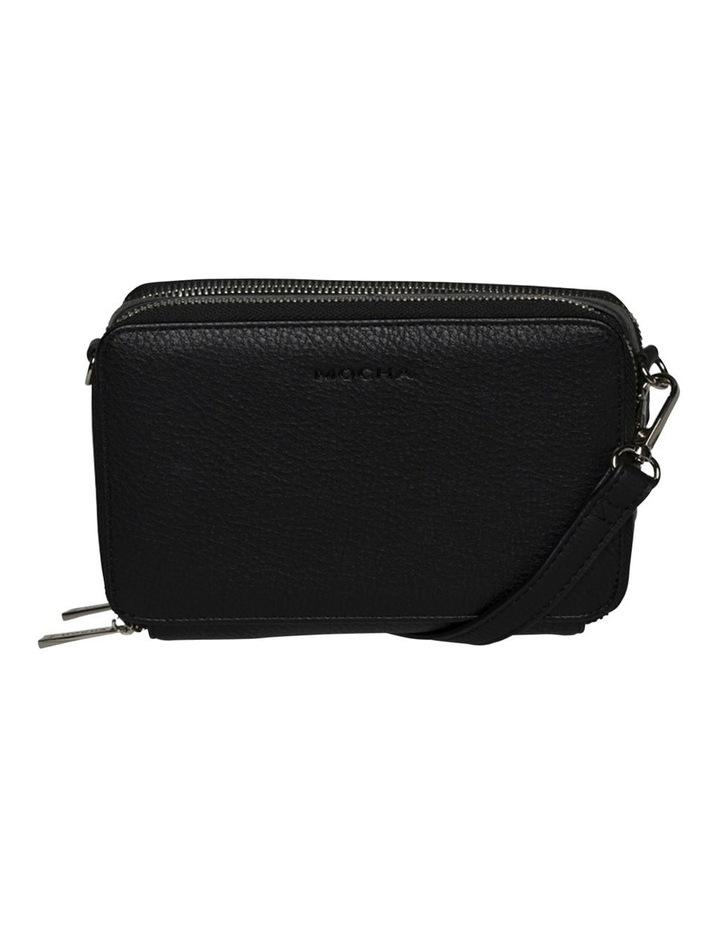 Double Zip Clutch Crossbody Bag - Black image 4