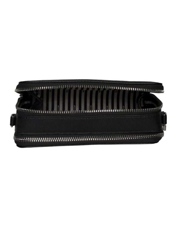 Double Zip Clutch Crossbody Bag - Black image 5