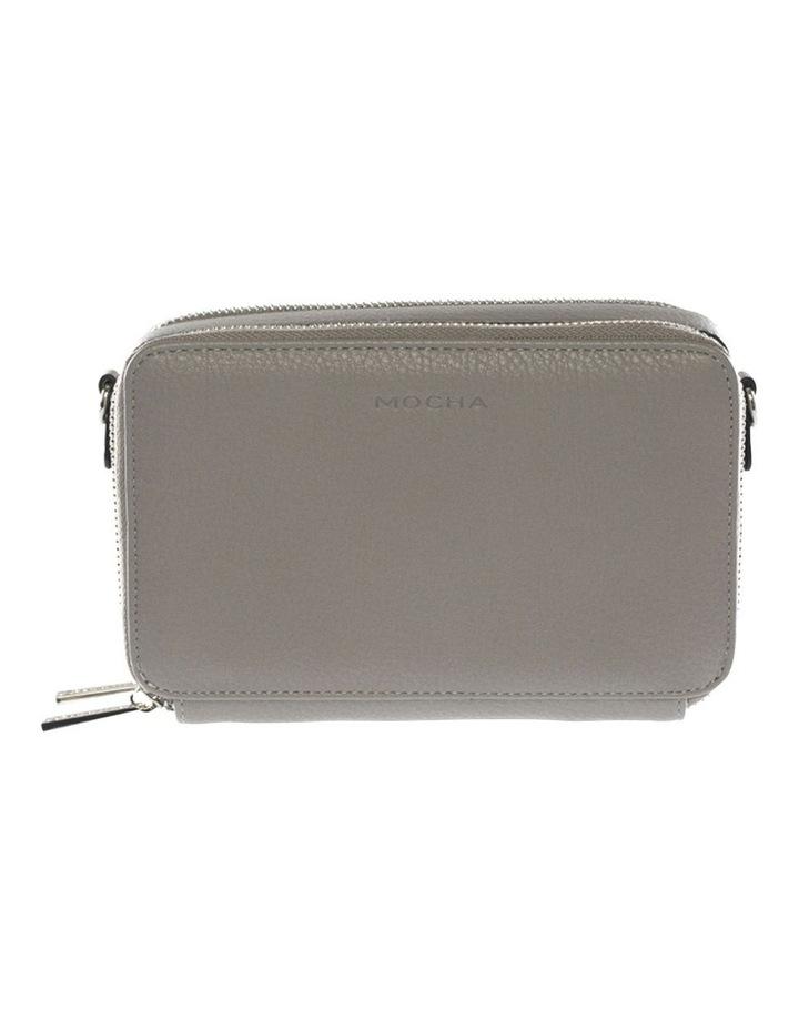 Double Zip Clutch Crossbody Bag - Grey image 1