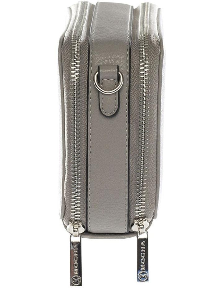 Double Zip Clutch Crossbody Bag - Grey image 3