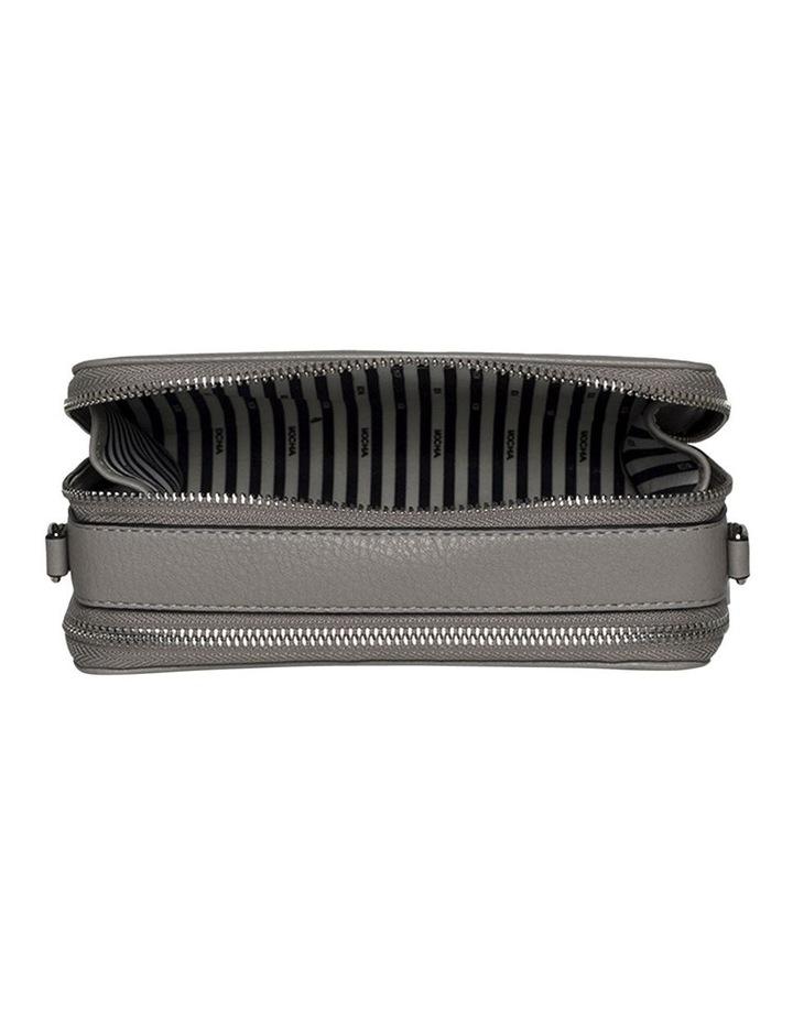 Double Zip Clutch Crossbody Bag - Grey image 5