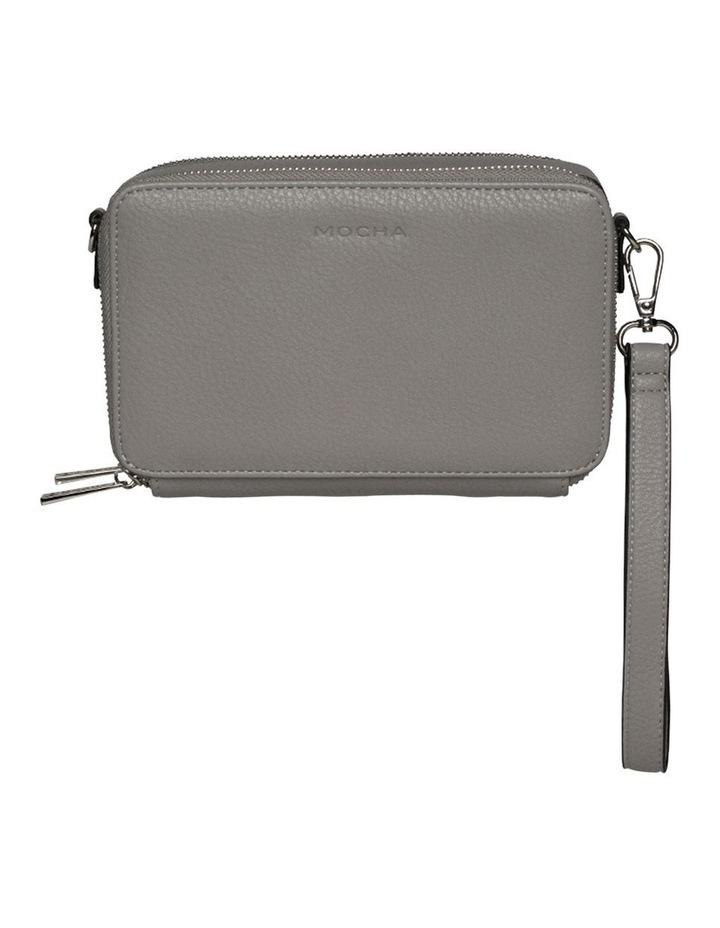 Double Zip Clutch Crossbody Bag - Grey image 6
