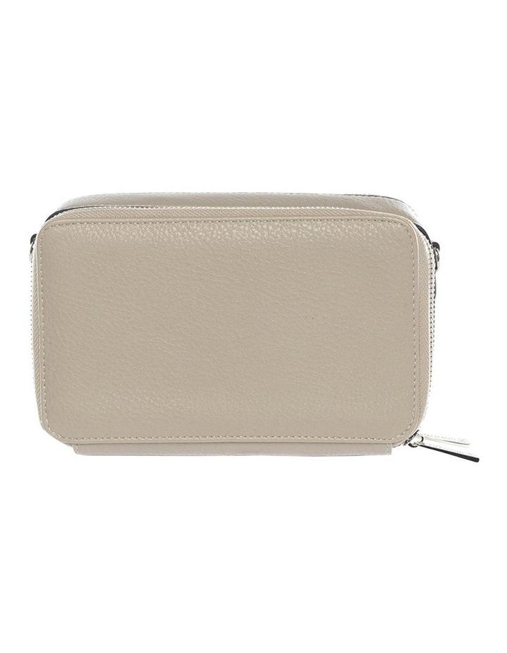 Double Zip Clutch Crossbody Bag - Light Taupe image 2