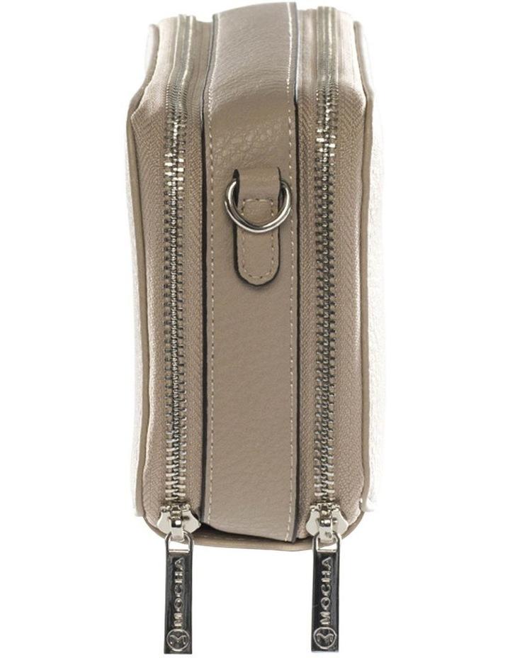 Double Zip Clutch Crossbody Bag - Light Taupe image 3