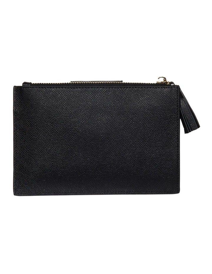 Tassel Clip Leather Coin Wallet - Black image 2